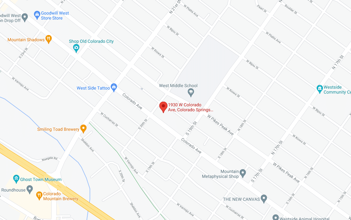 map location of springs recovery address