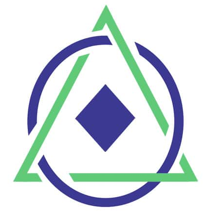 mar-anon logo triangle and circle with diamond in middle