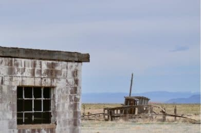 abandoned stone building taos new mexico