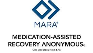 mara logo 2 diamonds with text below