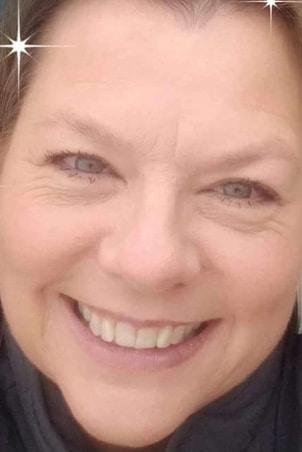 woman smiling brown hair